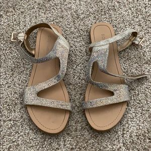 Iridescent BCBG Sandals